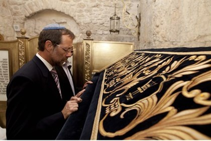 Moshe Feiglin at King David's Tomb