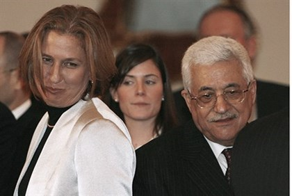 Tzipi Livni and Mahmoud Abbas