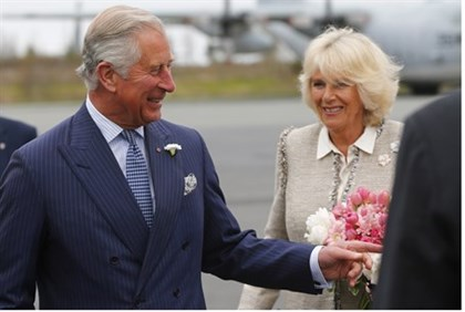 Prince Charles and his wife Camilla, Dutchess of Cornwall, arrive in Canada
