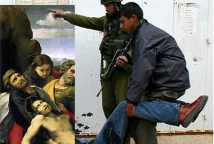 PA turns Jesus into 'wounded Palestinian'