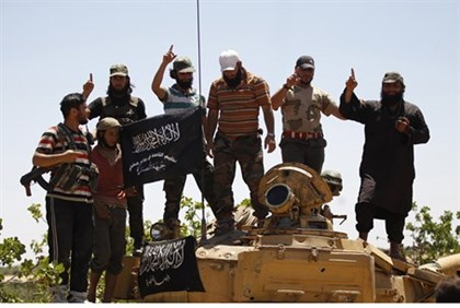 Syrian rebels from the Al Qaeda-linked Nusra Front