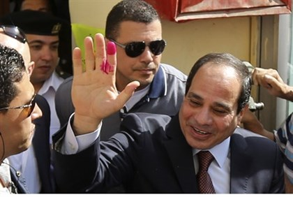 Sisi casts his vote durng May elections