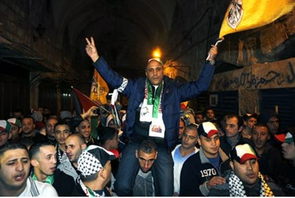 Freed terrorist in Jerusalem's Old City