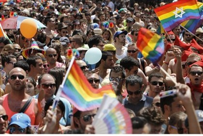 Gay pride parade, Tel Aviv (file). Civil marriage rejected by  Knesset on Wednesday.