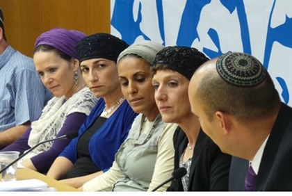 Mothers of the kidnapped boys, with Naftali Bennett