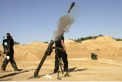 Gaza terrorists fire mortar shells