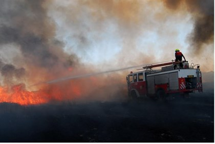 Fire caused by Gaza rocket (file)