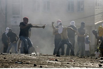 Arab rioting in Jerusalem
