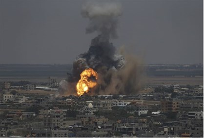 IAF strike on target in Rafah, Gaza, 8th June 2014