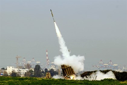 Iron Dome employed against Gaza rocket (file)