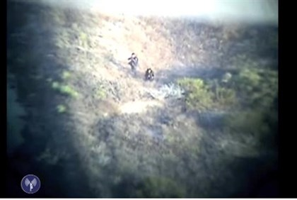 IDF Givati soldiers fire at the terrorists