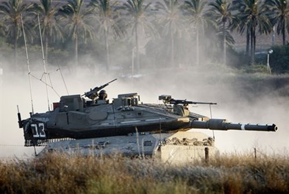 Merkava Mark IV tank by Gaza