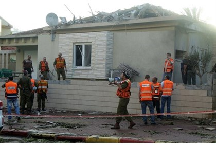 House hit by rocket in Ashkelon