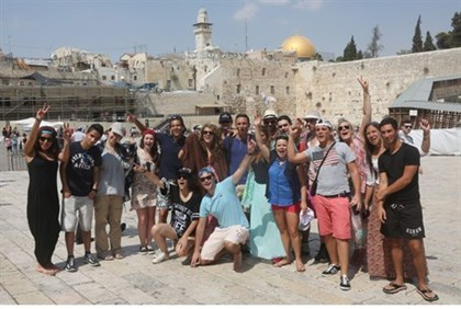Taglit participants at the Kotel
