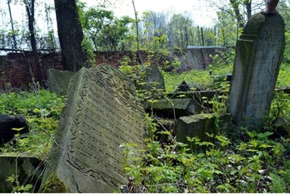 Abandoned Jewish cemetery (illustration)