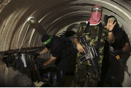 "Hamas terrorists inside Gaza ""terror tunnel"""
