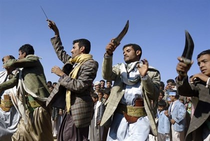 Houthis dance in Yemen