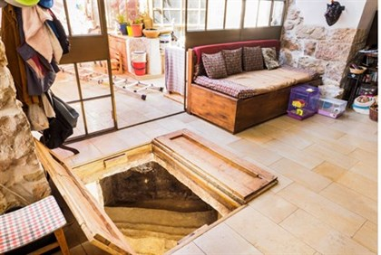 Ritual bath under living room floor