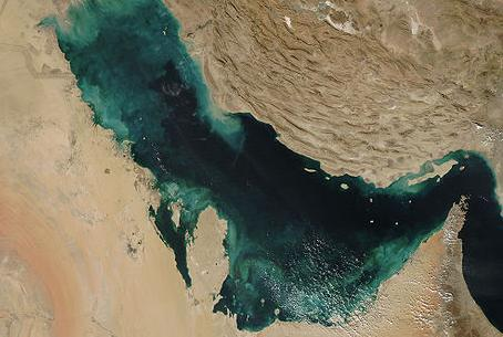 Satellite image of Persian Gulf