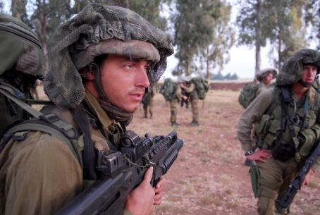 IDF soldiers in training
