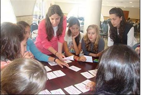 NCSY female ambassadors learning Torah