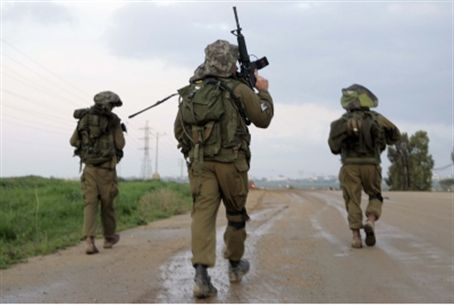 IDF soldiers leaving Gaza, January 2009.
