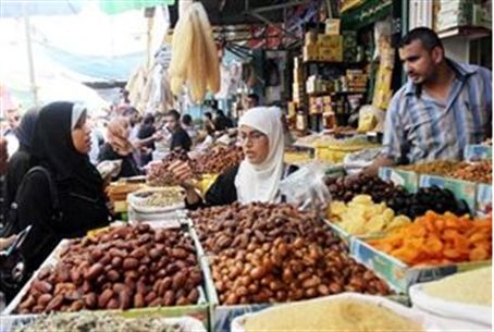 A market in Gaza this past week