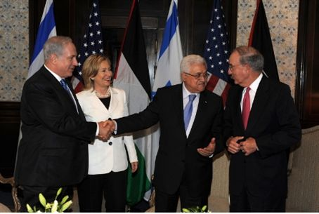 Netanyahu, Clinton, Abbas and Mitchell