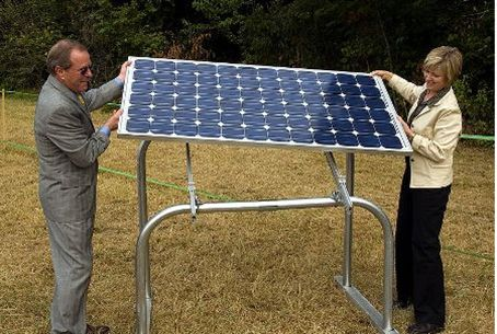 Installing a solar panel