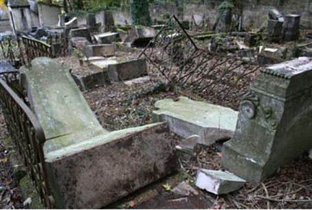 Desecrated Jewish graves at Bar-le-Duc, Franc