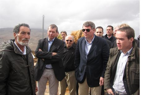 European MPs visit the Samaria region
