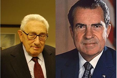Henry Kissinger and Pres. R. Nixon