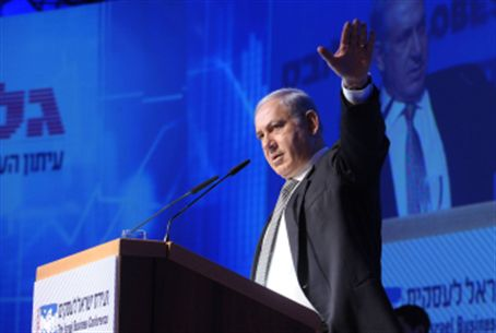 Netanyahu at Globes Conferece Dec. 13, 2010