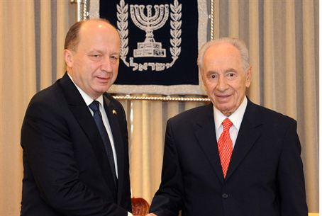 Peres and Lithuanian PM