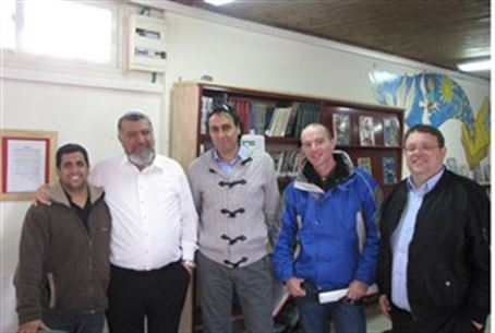 Jewish Agency Officials in Samaria