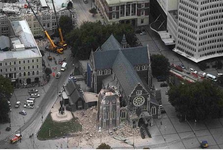 Earthquake damage in Christchurch