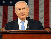 Netanyahu addressing Congress