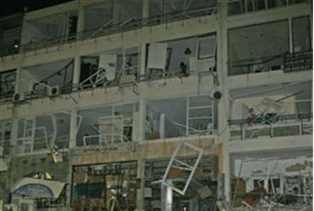 Netanya building after the explosion