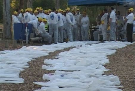 Body Bags at ZAKA Drill