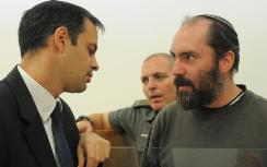 Teitel (right) in court