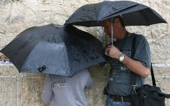 Praying for rain at the Western Wall