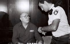 John Demjanjuk during trial in Israel