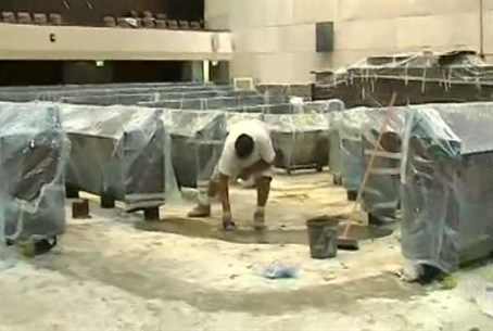 Renovations in the Knesset plenum