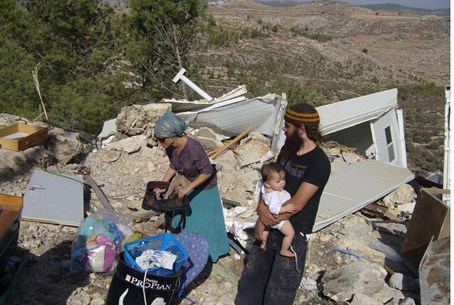 Aftermath of demolitions of Jewish homes (arc