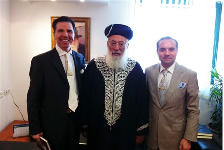 Dr. Oktar Babuna, Chief Rabbi Shlomo Amar, Dr