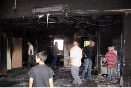 Aftermath of mosque fire