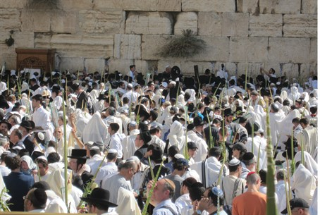 Sukkot at the Western Wall