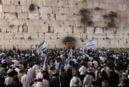 Crowd at the Western Wall