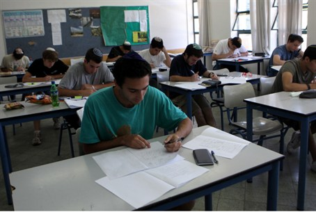 Students taking a matriculation exam