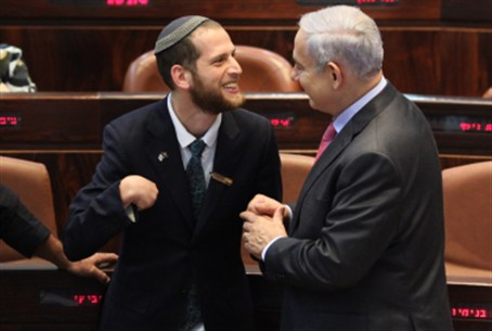 "Netanyahu with one of the ""Special"" Workers"